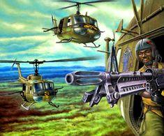 US helicopters in Vietnam 1968- by Łukasz Mieszkowski