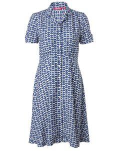 ANNIKA klänning blå   Print   Dress   Klänningar   Mode   INDISKA Shop Online