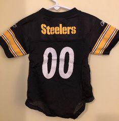 Pittsburgh Steelers 12 Months Jersey NFL Girl Boy Unisex bodysuit one piece   Reebok  PittsburghSteelers 2363d960c04