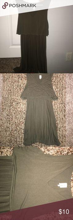 Army green Dress Flowy green dress Miami Lace Dresses Midi