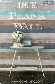 How awersome is this plank wall?! Lovely Etc, http://www.lovelyetc.com/, created this look with General Finishes Milk Paints in Seagull Gray, Driftwood, Patina Green and Snow White.  Such a great idea! You can find your favorite GF products at Woodcraft, Rockler Woodworking stores or Wood Essence in Canada. You can also use your zip code to find a retailer near you at http://generalfinishes.com/where-buy#.UvASj1M3mIY.