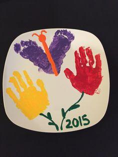 #Orlando #Kissimmee #Immigration #Lawyer #GailLaw #FreeConsultation shares her kids craft #handprints #footprints #flower #butterflies