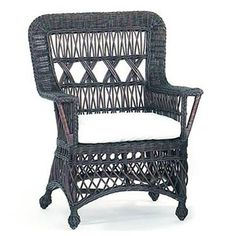 """Loggia Wicker Chair Ships Free-31""""W x 27"""" Deep x 40""""H, 26"""" Arm Height, 16.5"""" Seat Height Seat cushion included $628"""