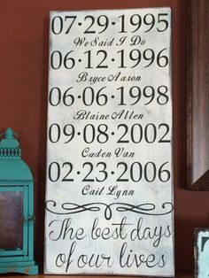 The best days of our lives wood sign - Personalized - Custom made - Family sign - Wedding - Children
