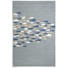 school of fish rug {this would make a great piece of wall art}