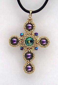 Cute Jewelry, Jewelry Crafts, Beaded Jewelry, Handmade Jewelry, Beaded Necklace, Beaded Angels, Beaded Cross, Catholic Jewelry, Bead Loom Bracelets