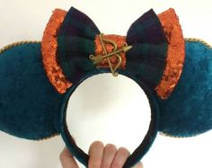Inspired Merida from Brave Rose Mouse Ears by MistysMouseEars