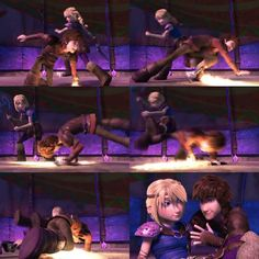 Hiccup improved himself < He definitely did. I'm guessing that is probably a necessity since he's in a relationship with Astrid. Hehe.