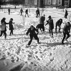 #Winterfest is on deck! And things haven't changed. #TBT to this 1960s snowball fight in front of #UBuffalo's Squire Hall ☃