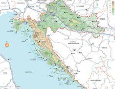 Physical Map of Croatia Ezilon Maps United States of Europe