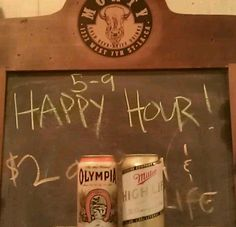 Today in five short hours, 5-9 pm! Happy Hour, yew! I can feel the weekend coming! $2 Oly, High Life, $4 well drinks, $1 off everything else! #DTLA