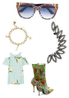 """Untitled #4190"" by bellagioia ❤ liked on Polyvore featuring MANGO, Balenciaga, Kate Spade and Dolce&Gabbana"