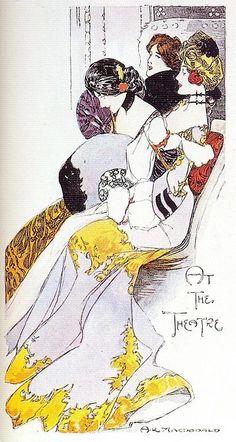 (via Liberty / Alastair K. Macdonald, At the Theatre, 1900s | Flickr - Photo Sharing!)