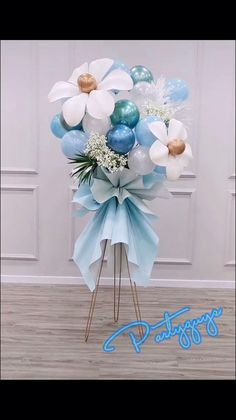 Birthday Balloon Decorations, Balloon Crafts, Balloon Centerpieces, Baby Shower Centerpieces, Diy Wedding Decorations, Birthday Balloons, Baby Shower Decorations, Diy Party Centerpieces, Balloon Gift