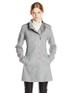 Jessica Simpson Women's Asymmetrical Wool Coat in Gray - http://www.womansindex.com/jessica-simpson-womens-asymmetrical-wool-coat-in-gray/