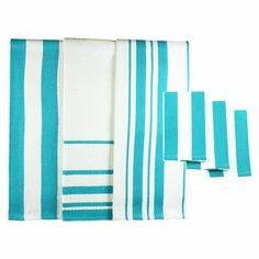 MU Kitchen Dish Towel & Dish Cloth 6-pc. Set - Pacific Blue.Opens in a new window