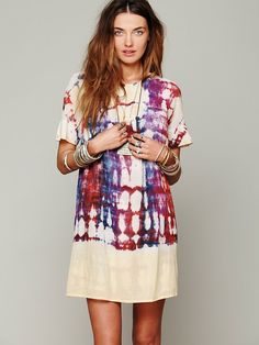 Antik Batik Artus Tie Dye Smock Dress