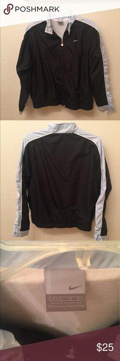 Nike Windbreaker Track Jacket Almost brand new light blue and black windbreaker. Very comfortable. Nike Jackets & Coats