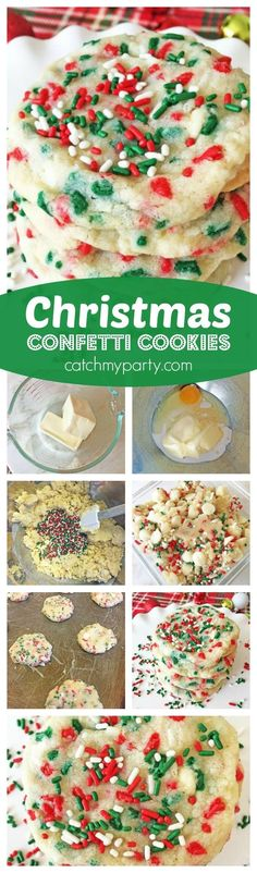 The easiest, most delicious Christmas cookies! They melt in your mouth. Check out … New Year's Desserts, Christmas Desserts Easy, Cute Desserts, Christmas Goodies, Christmas Treats, Christmas Baking, Holiday Treats, Holiday Recipes, Dessert Recipes