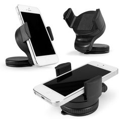 Mobile Phone Car Mount Holder Color: Black Material: Plastic Cellphone clip width range: 5~7.5cm / 2~2.95in Suction cup diameter: 6cm / 2.36in                   from   www.veasany.com