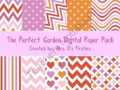 The Perfect Garden Digital Paper Pack from Mrs. Ds Firsties on TeachersNotebook.com (10 pages)  - 10 beautiful digital papers!  The Perfect Garden
