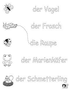 German Worksheets for Kids ~ Spring Printout German ~ German Activities for Children ~ Deutsch für Kinder ~ Arbeitsblätter für Kinder