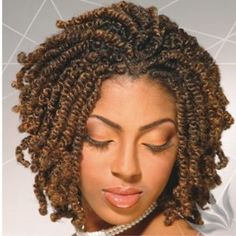 I tried the E-On Bomb Twist hair twice and it bombed.  The bomb twist synthetic hair texture is very silky and doesn't hold well to natural hair.  I've gone back to spring (see image) and fluffy twist hair as those finished styles have the best and longer lasting results.  Goal:  Learn to do my own | http://twistbraid151.blogspot.com