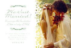 結婚報告ハガキはオリジナリティ溢れるお洒落なデザインで差をつけよう!