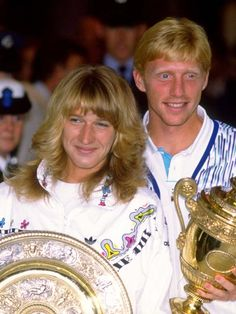 Steffi Graf and Boris Becker, Wimbledon champions  1989