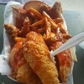 Photo of Ms. T's Southern Fried Chicken - Chicago, IL, United States. Perch and Chicken wings