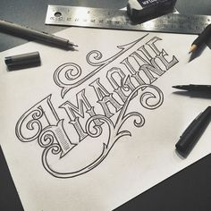 and all of a sudden that piano intro is stuck in your head  sketching a design for an intermediate lettering class coming soon! @lovelyinvites