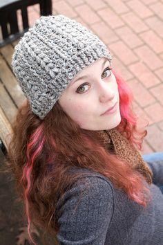 Womens Fashion Tweed Hat by ArtWhimsCrochet on Etsy, $40.00