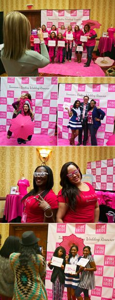 Brides loved the Pink Room at our Fall 2014 Murfreesboro Pink Bridal Show -- especially the photo booth! | The Pink Bride www.thepinkbride.com