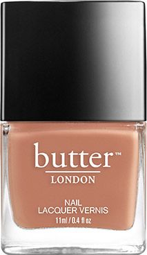 butter LONDON Tea with the Queen Nail Lacquer | On the pink side of tan, very neutral, but never boring tan nail lacquer. Understated and exceptional for work, or obviously, tea with the Queen.