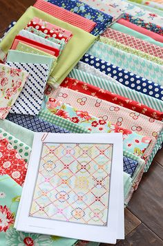 Fabric pull for APQ quilt along by croskelley, via Flickr