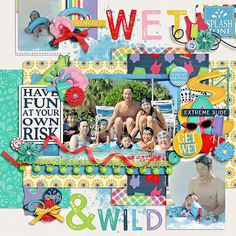 summer fun-water sliders by heather roselli & meghan mullens  template : moment of the day 3 by two tiny turtles