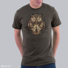 The Owl Keeper T-Shirt $7 Steampunk tee at shirtwoot! today only!
