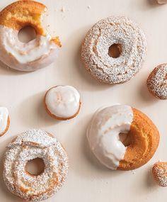 Lemon and Vanilla Bean Doughnuts | Fresh lemon zest and flecks of vanilla bean take these to a whole new level of fried goodness.