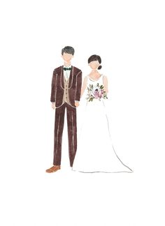 Perfect Couple, Perfect Match, Wedding Illustration, Couple Cartoon, Wedding Prep, Baby Family, Beauty Photography, Wedding Couples, Female Models
