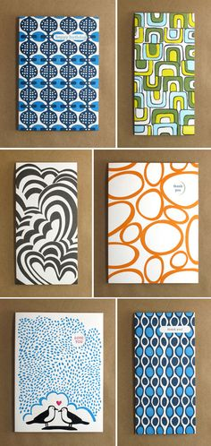 Letterpress card collection from Egg Press + Angela Adams