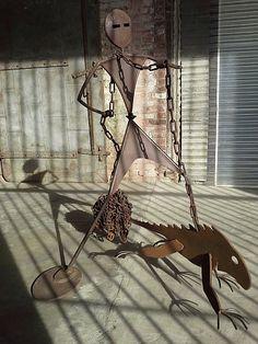 ROMERO METAL SCULPTURE - KINETICS - Artist Dan Romero works of Custom Metal Gates and Art of Metal; such as Metal Sculptures, Metal Wall Art, Kinetic Art, Signage, and Clocks