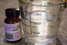 Recipes for Odor Eliminating, Air Freshening Sprays 12-15 drops of pure essential oil (I like grapefruit, orange, lemon, and lavender, but go with any scent that you enjoy) 1/2 cup white vinegar 1 1/2 cups water