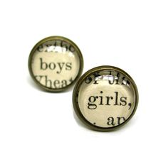 Boys and Girls Salvaged Vintage Library Card Word by writtennerd, $25.00