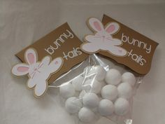 Bunny Tails-powdered donut holes you can even do a funny one : Bunny poo for adults chocolate covered coffee beans :)
