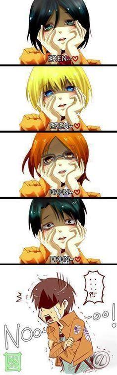 Attack on titan ... poor Eren 🤣