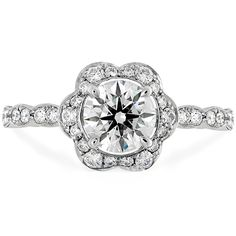 Lorelei Floral Engagement Ring (available in Platinum and 18k Rose, White or Yellow Gold)  #LoreleiCollection #EngagementRing | heartsonfire.com #MyHOFWeddinglook