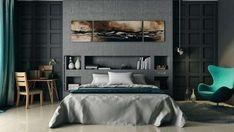 Boiserie in legno - Camera da letto moderna