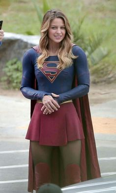 Melissa Benoist – On the set of 'Supergirl' in LA
