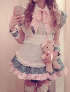 Cute Maid Café Girl.