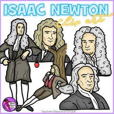 Get your own clip art set of Isaac Newton, including a full body image  and Isaac under an apple tree!Each image is high quality 300dpi png with transparent edges and closely cropped: great for layering!***************************************************************************Check out these other great related products!